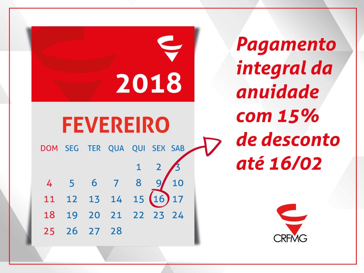 CFF prorroga prazo para pagamento de cota única da anuidade com 15% de desconto até 16 de fevereiro